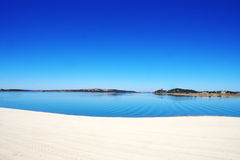 Alqueva lake near Mourao village, Portugal Stock Images