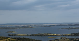 Alqueva lake panoramic Stock Photo