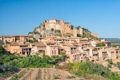Alquezar城堡在阿拉贡西班牙 免版税库存照片