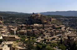 Alquezar. Panoramic view of Alquezar, Aragon, Spain Royalty Free Stock Photos