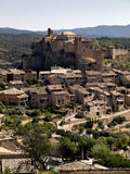Alquezar. Panoramic view of Alquezar, Aragon, Spain Stock Images