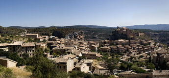 Alquezar. Panoramic view of Alquezar, Aragon, Spain Stock Photography