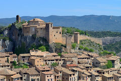 Alquezar village in Spain. Royalty Free Stock Image