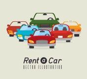 Alquile un diseño del coche, ejemplo del vector Fotos de archivo