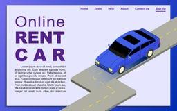 Alquiler de coches en línea Imágenes de archivo libres de regalías