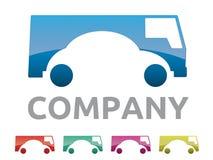 Alquiler de coches, logotipo de la compañía del concesionario de coches Imagenes de archivo