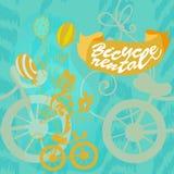 Alquiler de la bici del cartel Fotografía de archivo