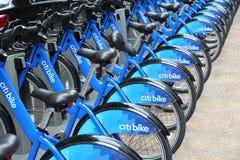 Alquiler de la bici en Nueva York Foto de archivo
