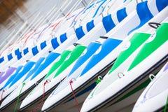 Alquiler de los barcos del catamarán Fotos de archivo