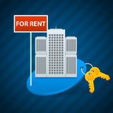Alquiler del concepto de los apartamentos de la ciudad libre illustration