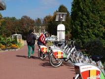 Alquiler urbano de la bici de Lublin Fotos de archivo libres de regalías