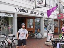 Alquileres de la bici de Nantucket foto de archivo libre de regalías