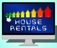 Alquileres de la casa que representan el ejemplo de Real Estate 3d Imagen de archivo