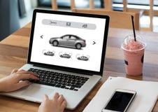 Alquileres Transportati de Automobile Vehicles Car del vendedor del alquiler de coches Fotos de archivo