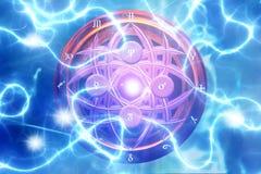 Alquimia mágica ilustración del vector