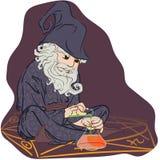 Alquimista do estilo dos desenhos animados Imagem de Stock Royalty Free