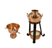 Alquitar. The Alquitar is the still of choice in Portugal and Spain and used mainly for the production of Grappa, Calvados and Aquardente or Eau-de-Vie Stock Photography