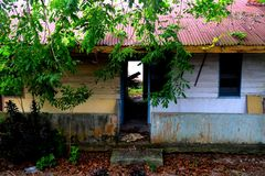 Alrededor de Belakang Padang 4 - casa en pueblo Fotos de archivo