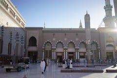 Alrededor de la mezquita del profeta Fotos de archivo libres de regalías
