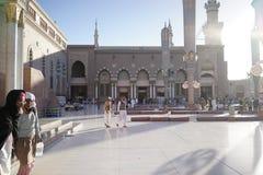 Alrededor de la mezquita del profeta Fotografía de archivo