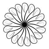 Alrededor de y elemento negro espiral del ornamento fotografía de archivo libre de regalías
