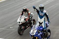 Alrededor del campeonato australiano 3 - 2017 del Superbike de las finanzas del motor de Yamaha Imagenes de archivo