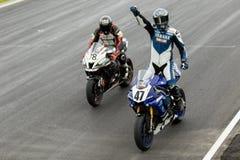 Alrededor del campeonato australiano 3 - 2017 del Superbike de las finanzas del motor de Yamaha Fotografía de archivo