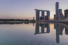 Alreem-Insel Abu Dhabi uae Lizenzfreies Stockfoto