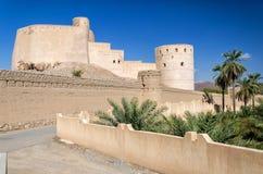 AlRustaq堡垒,阿曼苏丹国 免版税库存图片