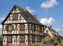 Alsácia, casa típica imagem de stock royalty free