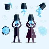 ALS冰桶挑战 库存例证