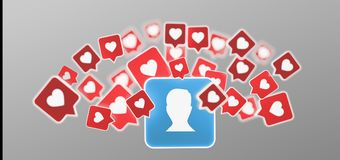 Als bericht op een contact op het sociale media 3d teruggeven Stock Afbeeldingen
