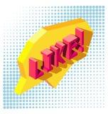 Als - 3D typografie Stock Fotografie