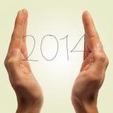 2014, als das neue Jahr Stockfotos