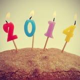 2014, als das neue Jahr Stockfotografie