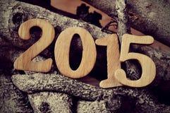 2015, als das neue Jahr Lizenzfreies Stockbild