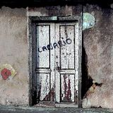 Als deze oude Canarische deur kon spreken royalty-vrije stock afbeeldingen