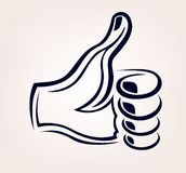 Als Hand Logo Tattoo Stock Afbeelding