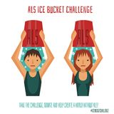 ALS Ice Bucket Challenge Royalty Free Stock Photography