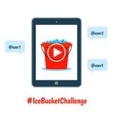 Als ice bucket challenge concept Royalty Free Stock Photos