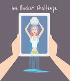 ALS Ice Bucket Challenge. Concept Vector EPS10. Social Media Charity Activity Royalty Free Stock Photography