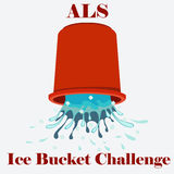 ALS Ice Bucket Challenge concept Vector Royalty Free Stock Photos