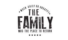 Als Leid oder unglückliches die Familie der Platz waren, zum zurückzugehen stock abbildung