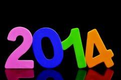 2014, als nieuw jaar Stock Afbeelding