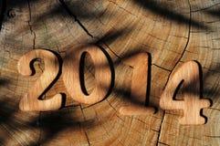2014, als nieuw jaar Stock Foto's