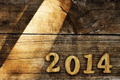 2014, als nieuw jaar Stock Foto