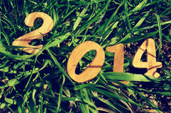 2014, als nieuw jaar Royalty-vrije Stock Afbeeldingen