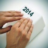 2014, als nieuw jaar, Stock Fotografie