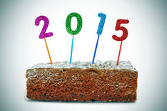 2015, als nieuw jaar Stock Afbeelding