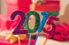 2015, als nieuw jaar Stock Fotografie